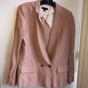 Ann taylor oversized linen blazer